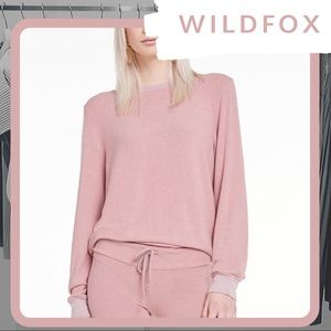 🦊 NWT WILDFOX Baggy Beach Jumper (Crush Pink)